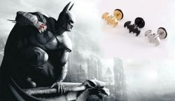 Batman náušnice Logo (ocel) šroubovací