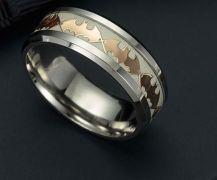 svítící prsten Batman (ocel)