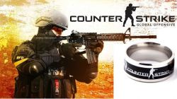 Counter Strike CS GO ocelový prsten