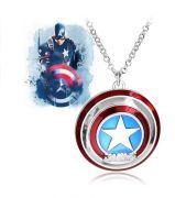 Kapitán Amerika náhrdelník štít s logem velký