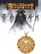 Piráti z Karibiku - náhrdelník Aztécká mince (zlatá) menší