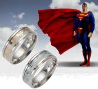 prsten Superman svítící ve tmě (ocel)