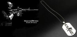Counter Strike CS GO náhrdelník vojenská známka (kov)