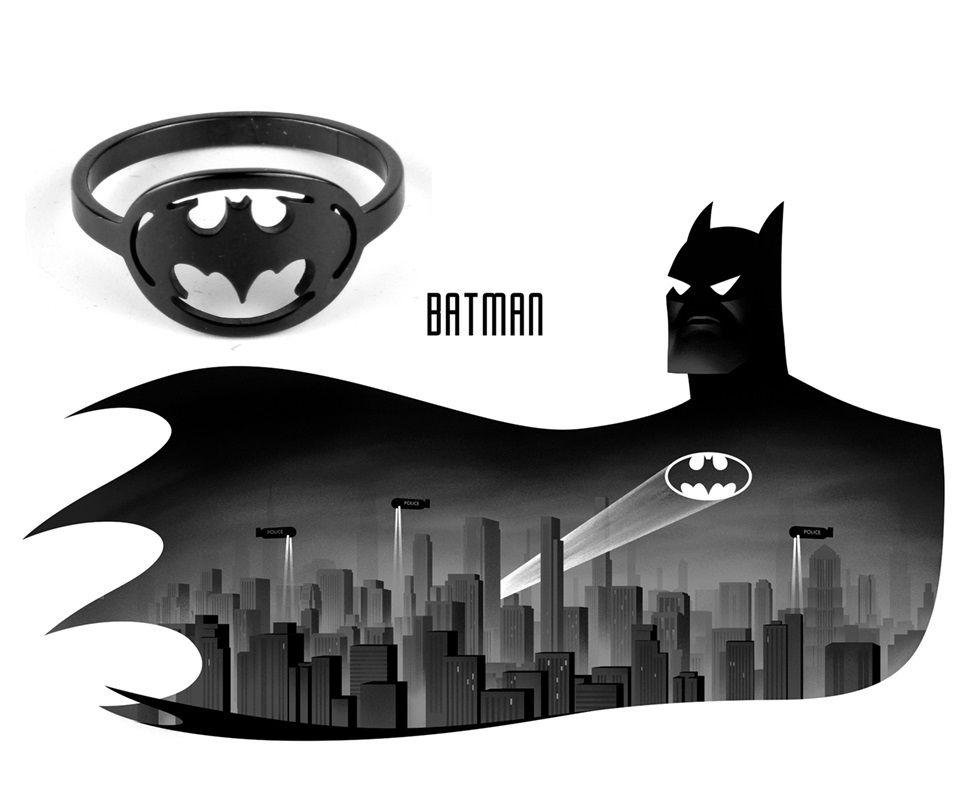 DC Comics prsten Batman (ocel) černý