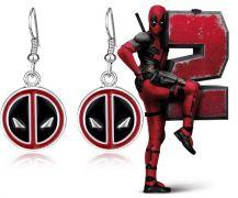 Deadpool visací náušnice Logo
