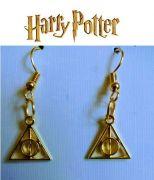 Zlaté náušnice Harry Potter se znamením Relikvie smrti