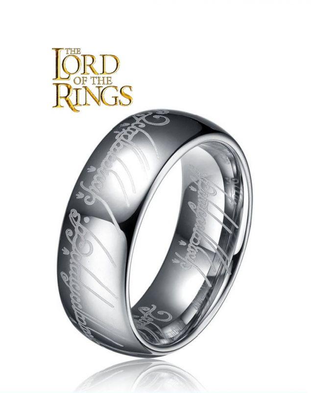 Jeden prsten Prsten moci Pán prstenů (Lord of the Rings) stříbrný 6 mm
