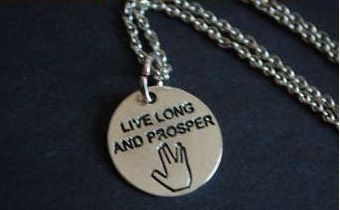 řetízek Star Trek Spock Live Long and Prosper Jobra