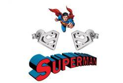 náušnice Superman Logo (ocel) | ocelová, zlatá