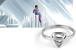 prsten Superman Logo (ocel) stříbrný
