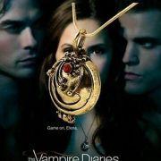 Upíří deníky (The Vampire Diaries) - medailonek Elena zlatý