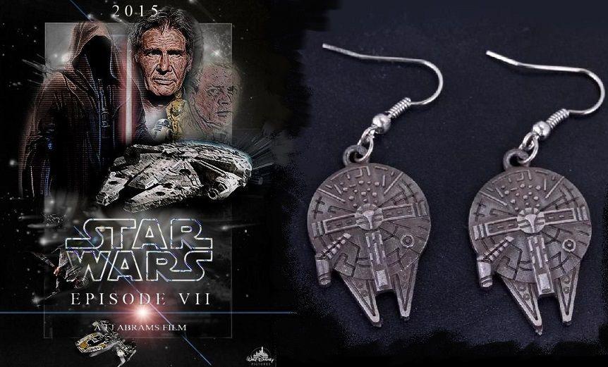 Star Wars / Hvězdné války - náušnice Millennium Falcon