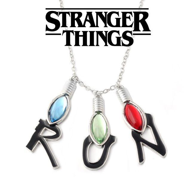 Stranger Things náhrdelník s přívěsky Run