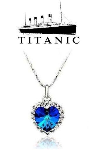 Titanic - náhrdelník Srdce oceánu - malé srdíčko