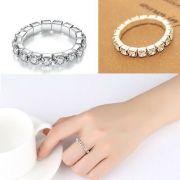 elastický štrasový prsten | jednořadý, dvouřadý, trojřadý, čtyřřadý