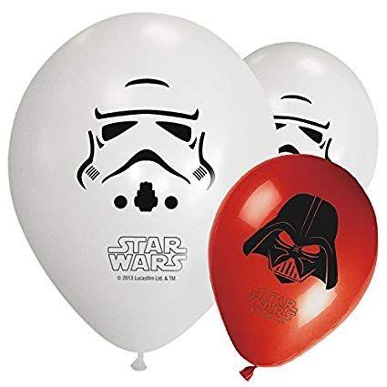 balónek Star Wars 8 ks - bílé a červené