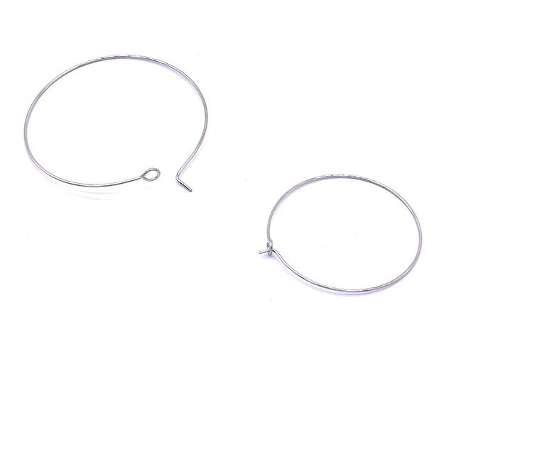 náušnice stříbrné kruhy tenké 3 cm