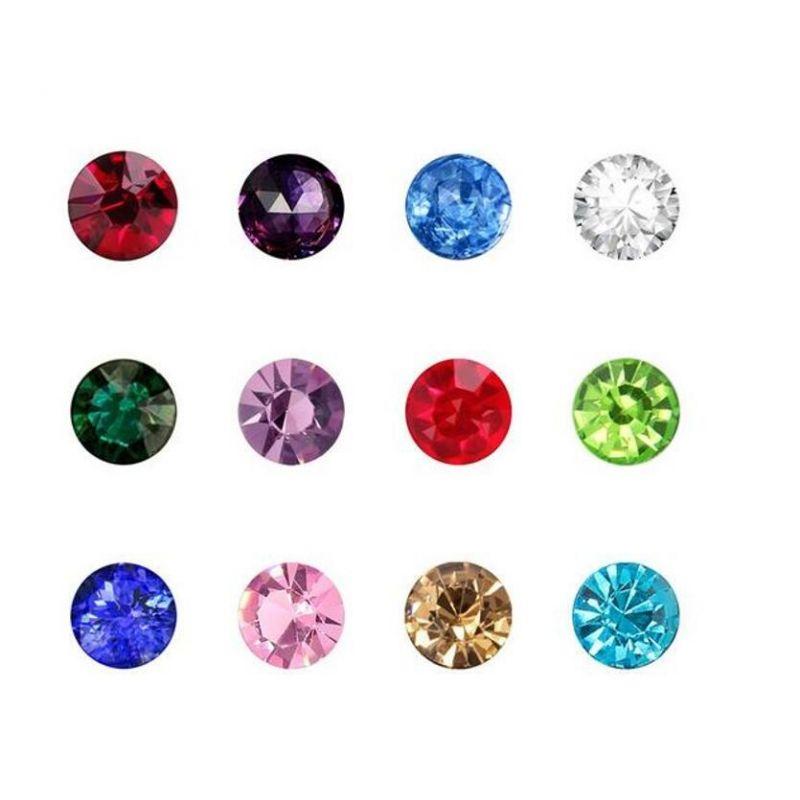 Plovoucí vkládací ozdoba do okénkového medailonku diamant barevný
