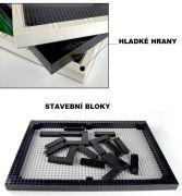 Vitrína na figurky Blocks Bricks Lego