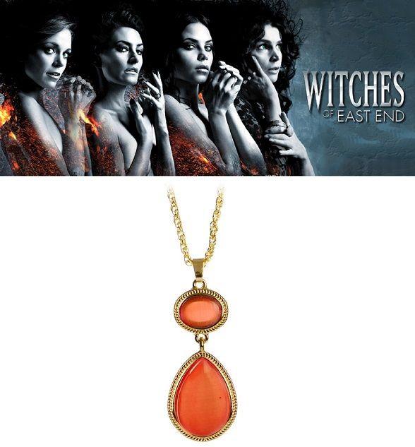 náhrdelník Witches of East End (Čarodějky z East Endu) oranžový