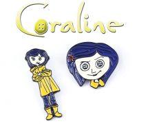 odznak Coraline 2 ks