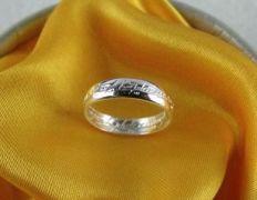 Prsten moci Pán prstenů - stříbřený dámský
