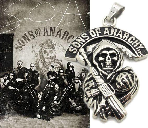 řetízek Sons of Anarchy (Zákon gangu) Smrtka