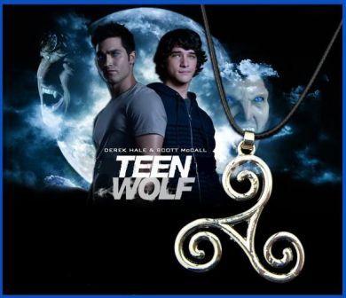 náhrdelník Teen Wolf - Triskelion symbol