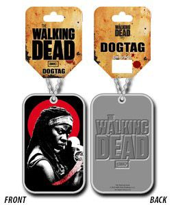 The Walking Dead náhrdelník vojenská známka Michonne Bioworld