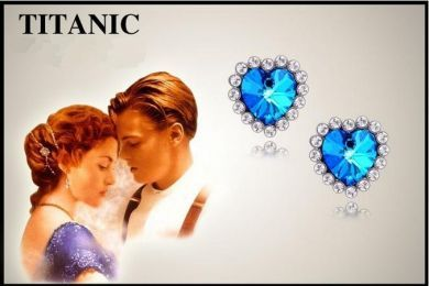 puzetové náušnice Titanic Srdce oceánu