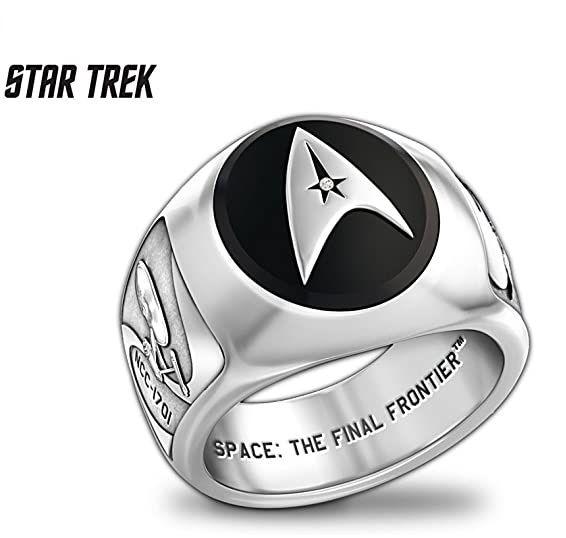 pánský prsten Star Trek znak Hvězdné flotily (Starfleet Command Division)