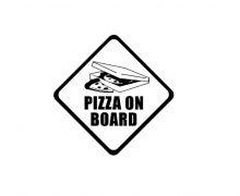samolepka na auto PIZZA