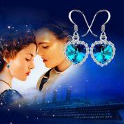 visací náušnice Titanic Srdce oceánu