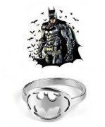 DC Comics prsten Batman (ocel) stříbrný | Velikost 7, Velikost 8