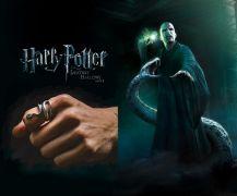 Hadí prsten Harry Potter - Voldemort | černý, starostříbrný