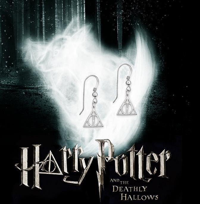 Harry Potter náušnice Relikvie smrti (malé)