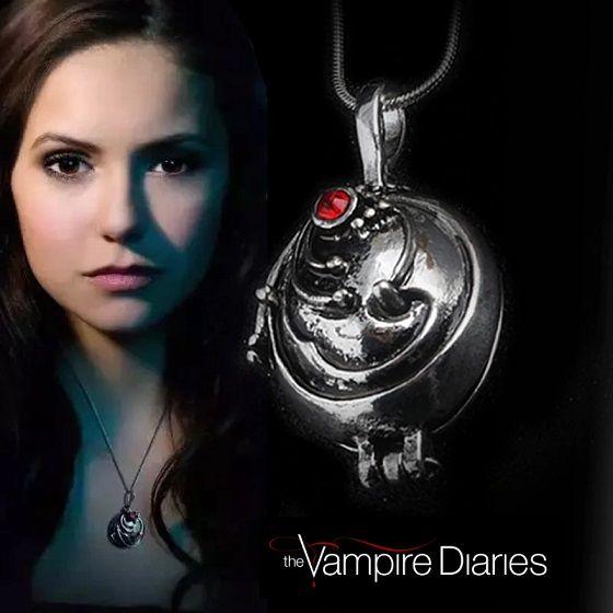 medailonek Elena Upíří deníky (The Vampire Diaries) starostříbrný