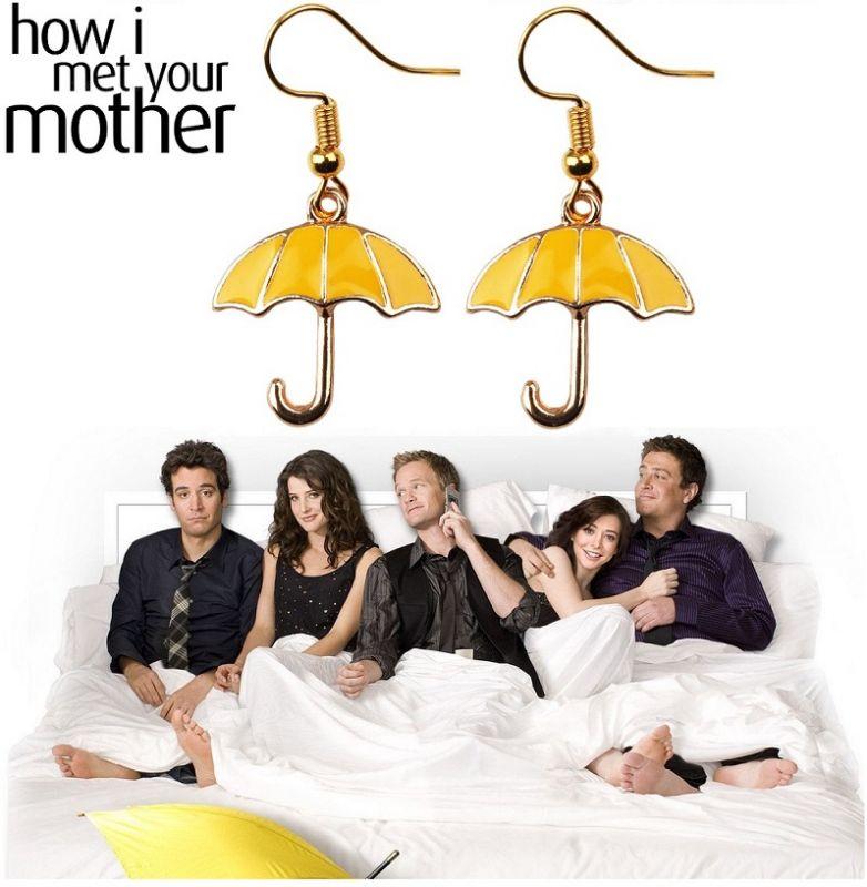 náušnice Jak jsem poznal vaši matku - žlutý deštník