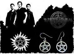 náušnice Supernatural (Lovci duchů) - pentagram