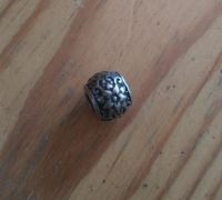 ocelový korálek na náramek Dark