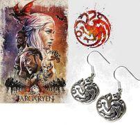 náušnice Hra o trůny Targaryen
