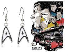 náušnice Star Trek znak velitelské divize Hvězdné flotily (Starfleet Command Insignia)