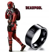 prsten Deadpool černý
