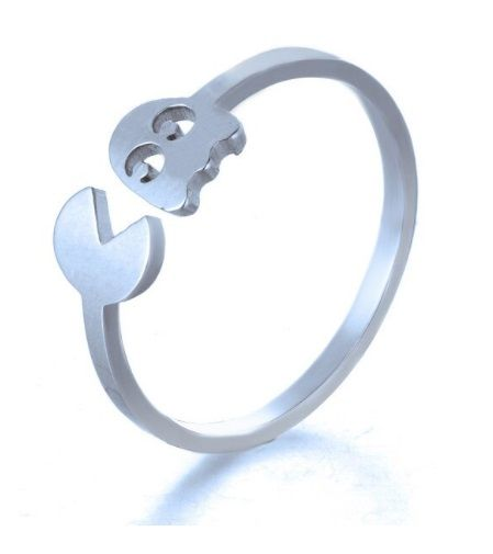 ocelový prsten Pac-Man