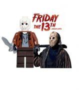 Pátek třináctého (Friday the 13th) Blocks Bricks Lego figurka Jason   modré kalhoty zelená bunda, s mačetou, s nožem