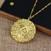 řetízek Piráti z Karibiku Aztécká mince zlacená
