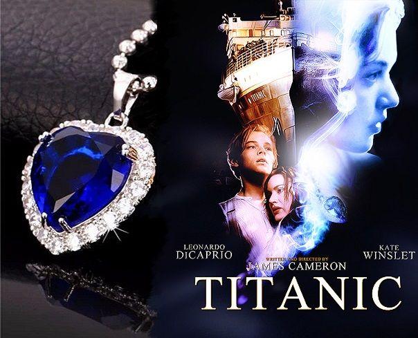 řetízek Titanic Srdce oceánu stříbřený