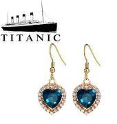 náušnice Titanic Srdce oceánu zlaté