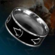 Assassins Creed - prsten Logo (titanová ocel) | Velikost 7, Velikost 8, Velikost 9