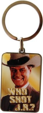 přívěsek Dallas Who Shot JR - klíčenka Pop-Art-Products